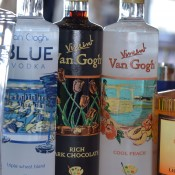 Our vodka sponsor, Van Gogh, showing off three of their expressions: Blue, Rich Dark Chocolate, and Cool Peach
