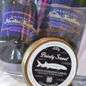 Champagne and Caviar, Pointy Snout Caviar, that is